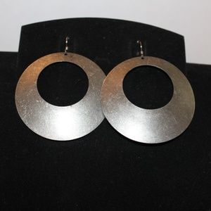 Silver tone Circle Earrings